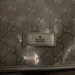 52128df724b Gucci Bags - Black Gucci diaper bag. Waterproof like new!